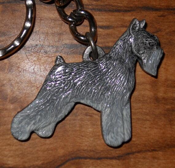 Keychain Miniature Schnauzer Dog Rawcliffe Pewter