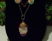 Vintage Spoon-Spoonful-of-Wisdom Necklace- Pink Pendant