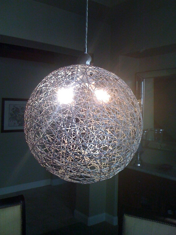 Gold Globe String Lights : String Globe Pendant Light 40 inch Silver fixture