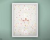 "Custom Baby Art Print - Heartbeat - Unframed - 8.5 x 11"""