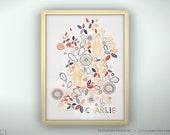 "Custom Baby Print - Zulu - Unframed - 8.5 x 11"""