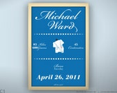 "Birth Announcement 8.5 x 11"" - King Elephant - Unframed Print"