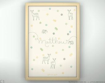 "Baby Art Print for Nursery - Confetti - Unframed Print - 13 x 19"""