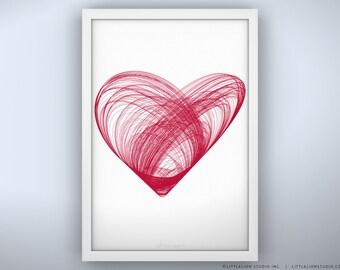 """Heart - Unframed Print - 13 x 19"""""""