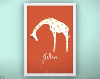 Children's Room Print - Queen Giraffe - Unframed Print - 13 x 19