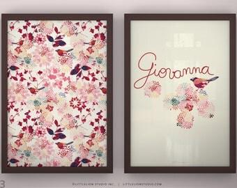"Children's Room Print - Mysteries Print Set - Unframed - 13 x 19"""