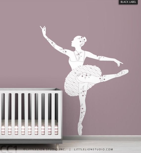 Items Similar To Kids Wall Decal Ballerina Silhouette