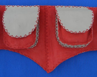 Waist Purse in Red - Belt pouch - Burning man - festival belt - hip belt - travel pouch belt