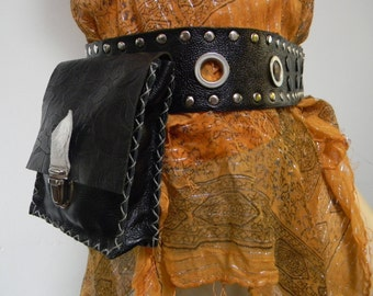 Steampunk pouch belt - Party Belt - Festival Belt