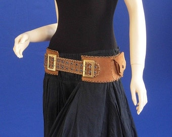 Suede and Leather Waist belt