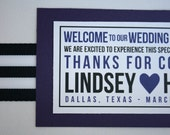 Custom Hotel OOT Overnight Welcome Bags-Boxes For Hotel Guests Modern Purple Black