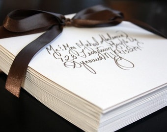 SPECIAL - Custom Calligraphy Wedding or Party Invitations, Placecards and more...Featured in Etsy Finds