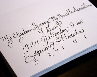 Custom Affordable Calligraphy Wedding or Party Invitations, Placecards and more...Featured in Etsy Finds
