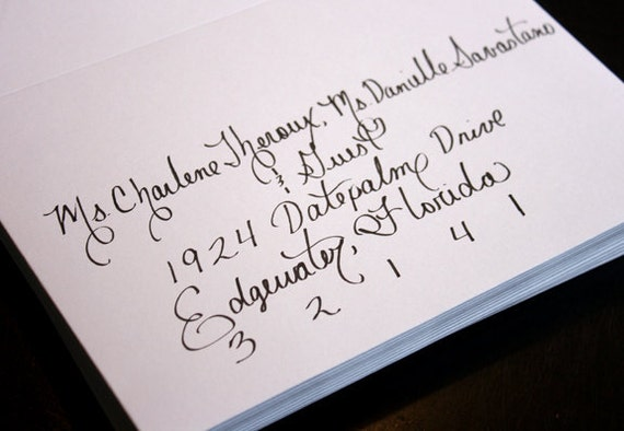 Custom Affordable Calligraphy Wedding Or Party Invitations