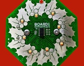 Wreath Circuit Board Ornament - Interactive