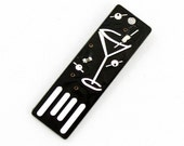 Martini USB Circuit Board Magnet in Black - Lights Up