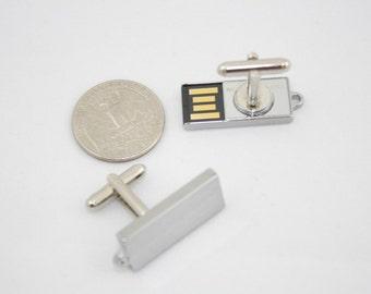 4GB total USB Memory Cufflinks