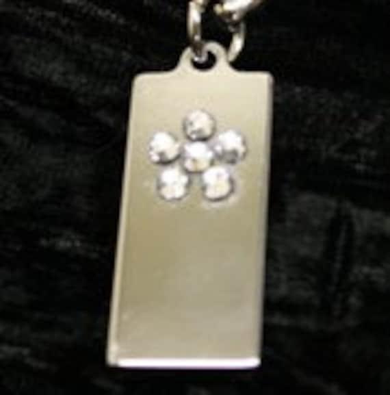 2GB USB Memory Keychain with Crystal Flowers