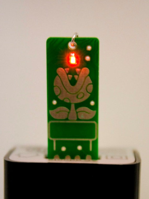 Piranha USB Circuit Board Earrings - LIGHTS UP