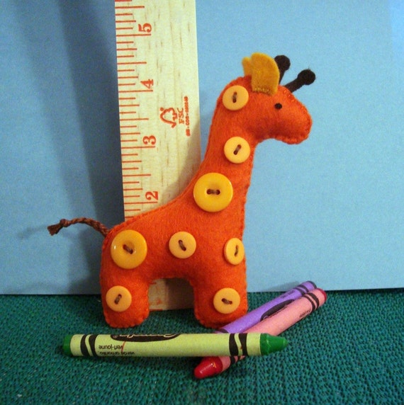 Dapper Giraffe Stuffed Felt Plushie