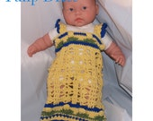 Cotton Baby Dress in Bright, Happy Yellow - size 3-6 months