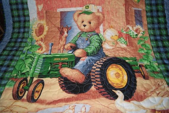 John Deere Teddy Bears : Teddy bear on john deere