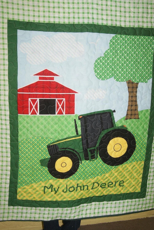 John Deere Quilt Patterns : John deere panel quilt