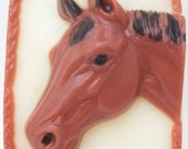 Horse Head Handcrafted Glycerin Soap Western Pony Equine Cowboy Cowgirl U Pick Scent & Color