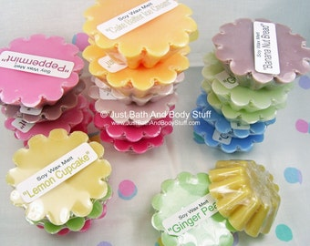 Lot 50 Soy Wax Wickless Candle Tarts Melts - Your Choice of 25 Scents