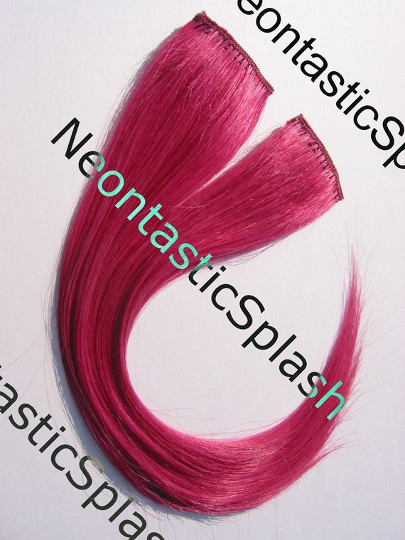 Clip On Pink Hair Extensions 88