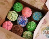 Custom for Amanda - Pack of 6 Mystery Flavor Cupcakes