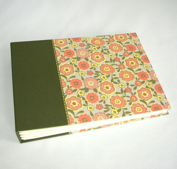 Photo Album Scrapbook - Large with Bright Flowers - Ships Now
