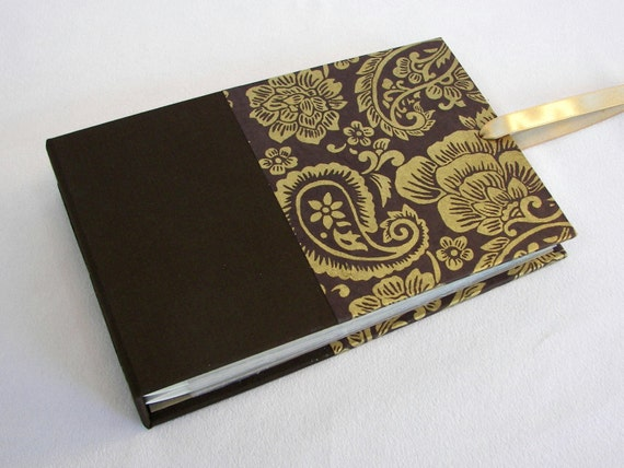 Mini Photo Album Chocolate Paisley - holds 48 4x6 photos - In Stock