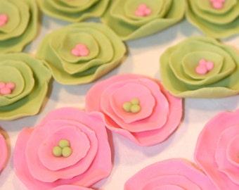 Fondant Cupcake Topper flower