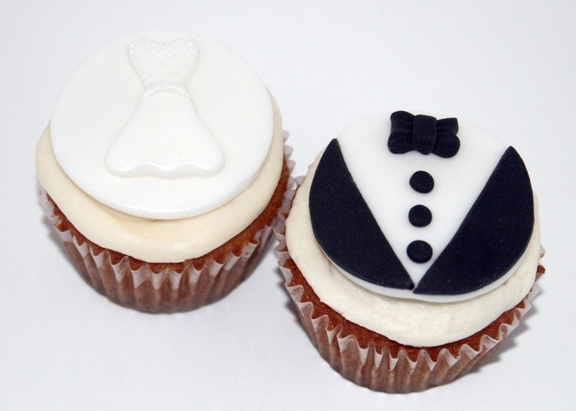 Wedding fondant cupcake toppers zoom junglespirit Image collections