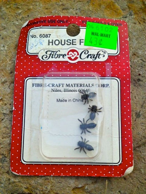 PIF - Package of Four Fake Flies - Vintage Unopened