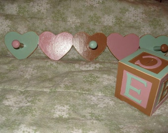 Girls Coat hanger and Wooden Bank Set