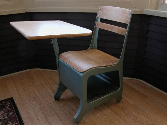 1950's School Desk by MoesEmporium on Etsy