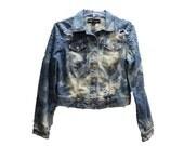 Super Cool Bleached Studded Distress Jacket