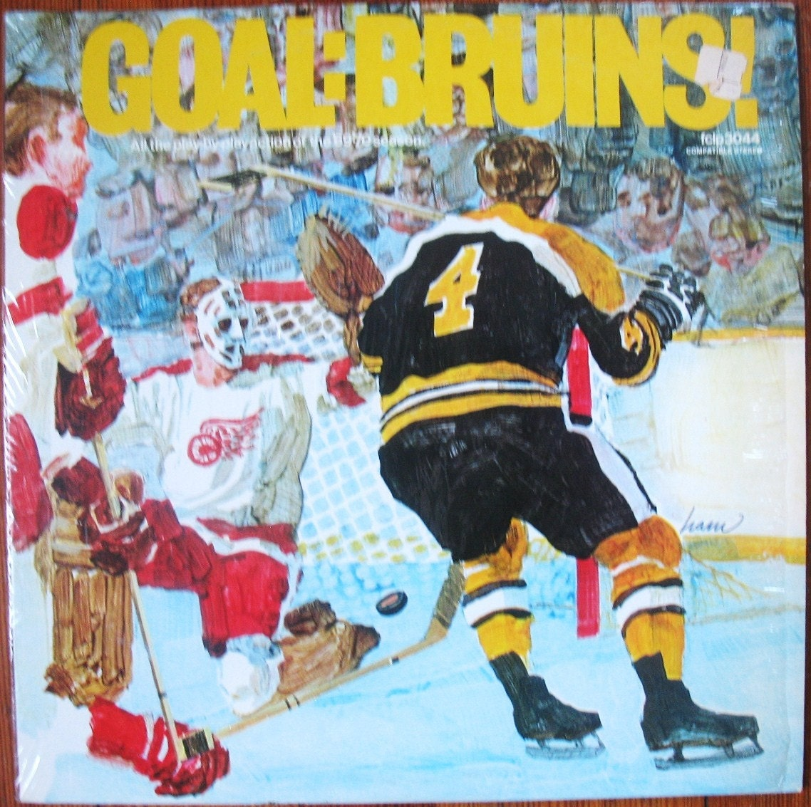 Goal Bruins Vintage Hockey Lp Record All The Play By Play