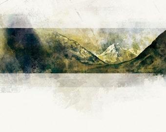 Aoraki Mount Cook - 8X10 Graphic Art Print