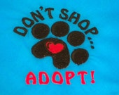 Don't Shop Adopt Dog Bandana