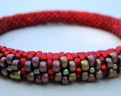 Bead Crochet Bangle Pattern:  Flowers All On the Outside