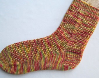 Knitted Sock Pattern:  Ringlet Socks Knitting Pattern