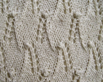 Knit Scarf Pattern: Lace Sampler Scarf / 1