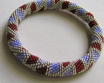 Bead Crochet Pattern:  Littler Boxes Bead Crochet Bangle