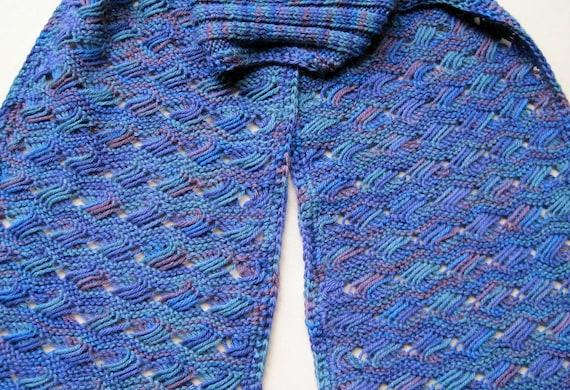 Knit Scarf Pattern: Ocean Waves Turtleneck Scarf Knitting