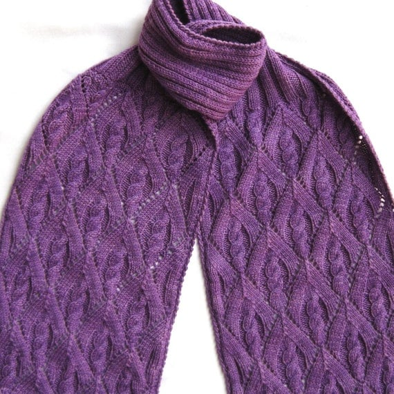 Knit Scarf Pattern: Winters Not Quite Over Scarf