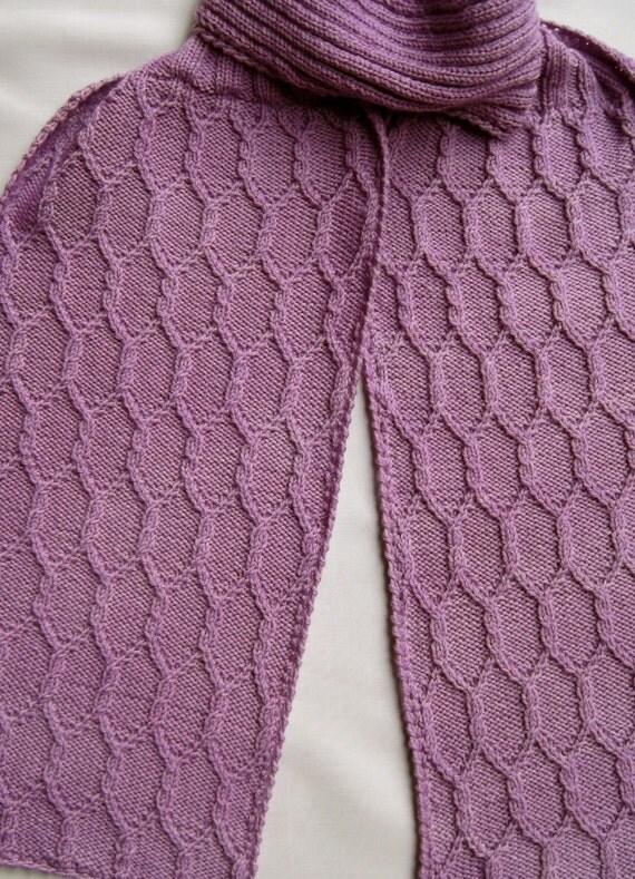 Cap Knitting Patterns : Knit Scarf Pattern: Gothic Columns Turtleneck Scarf Knitting