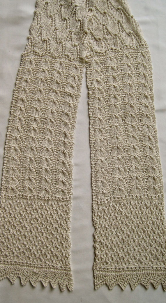 Knit Scarf Pattern: Lace Sampler Scarf / 1 from WearableArtEmporium on Etsy S...